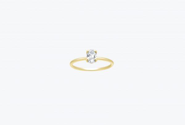 טבעת אירוסין אובל קלאסית