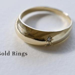 14K Gold plain rings