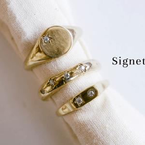 14K Gold Signet Rings