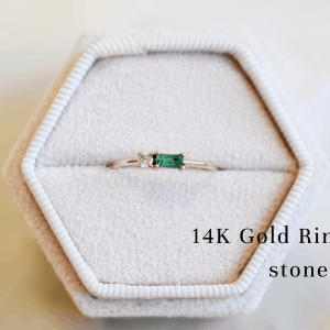 14K Gold rings with stones